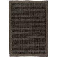 Handvävd matta - Luxor - Antracit - Ull