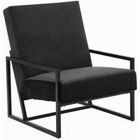 Simple lounge fåtölj - Svart sammet