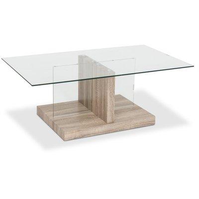 Diamant soffbord - Glas / Fanèr