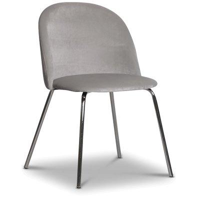 Giovani velvet stol - Gråbeige/Krom