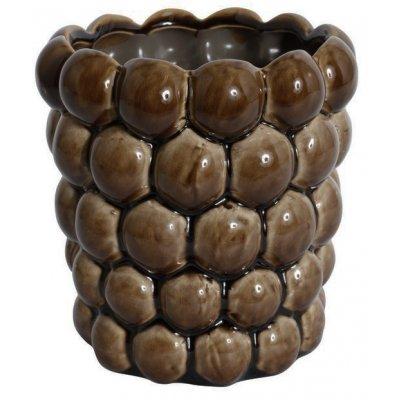 Vas Big Bouble H16 cm - Brun (Glansig)