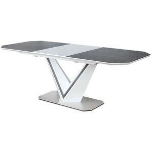 Matbord Luz 160-220 cm - Vit/grå