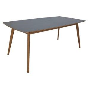 Perstorp matbord 195-245 cm - Ek / Mörk Virrvarr