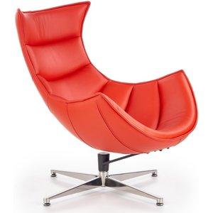 Ako designfåtölj - Rött läder