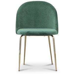 Tiffany velvet stol - Grön/Mässing