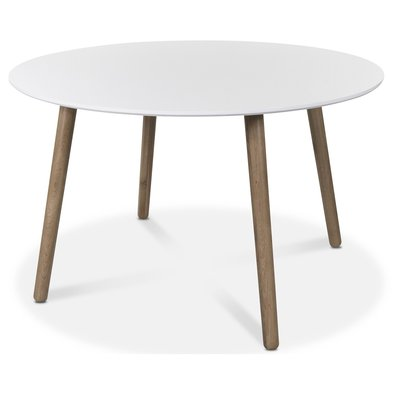 Rosvik matbord 120 cm - Ek/Vit