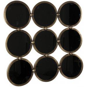 A-round spegel - Antik mässing