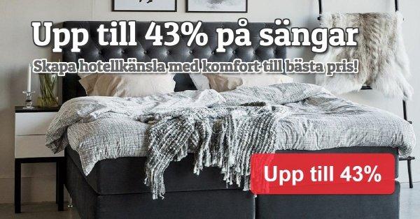 Spara upp till 43% på sängar