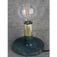 Mellby bordslampa - Grön marmor / Mässing