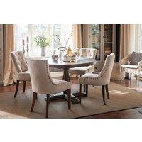 Matgrupp: Lamier matbord runt + 4 st Tuva beige stolar