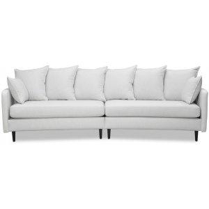 Gotland 4-sits svängd soffa 301 cm - Off-white linne
