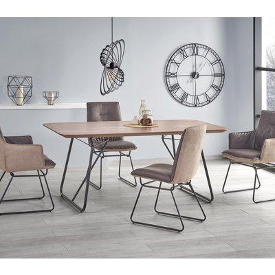 Merit matbord - Valnöt/svart