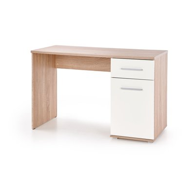 Abdel skrivbord - Sonoma ek/vit