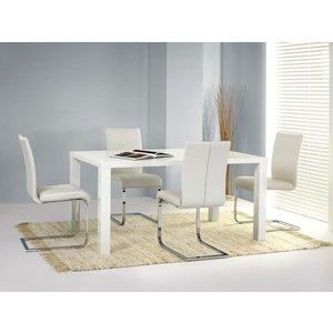 Johanna matbord med iläggsskiva 160/200cm - Vit Högglans