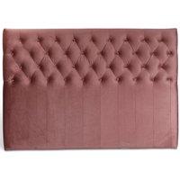 Anna sänggavel med knappar (Rosa sammet) - Valfri bredd 90-180 cm