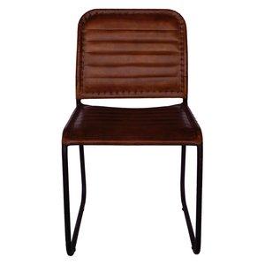 Sundsvall stol - Metall/läder
