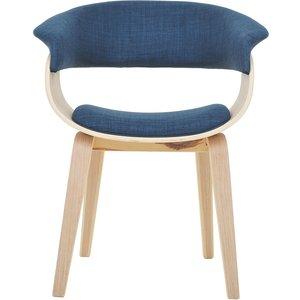 Vansbro karmstol - blå/ekfaner