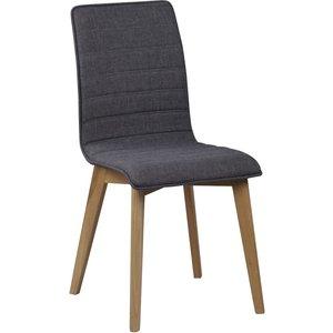 Aniyah stol - Mörkgrå/ek