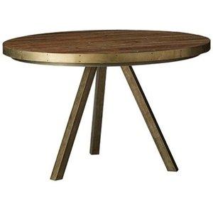 Dublin matbord 120 cm - Brunoljat trä