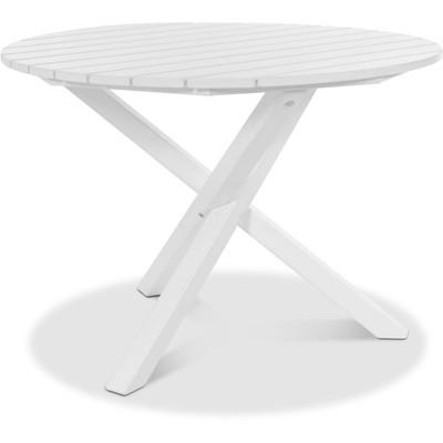 Scottsdale matbord runt 105 cm - Vit