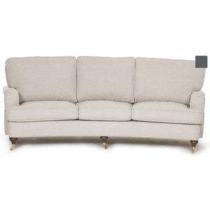 Howard Watford Deluxe 4-sits svängd soffa - Stålgrå sammet