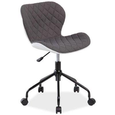 Skrivbordsstol Krystal - Vit/grå