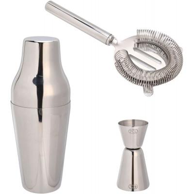 Sontell drinkset - Blankt stål