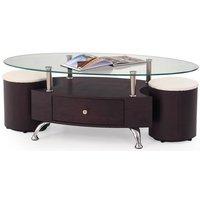 Meeting soffbord inklusive sittpallar - Wenge