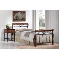 Säng Titusville-90x200 antik körsbär