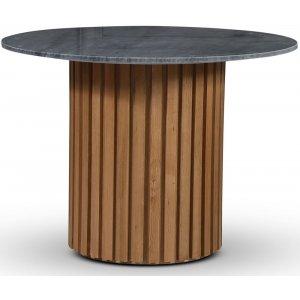 Sumo matbord Ø105 cm - Oljad ek / Grå marmor