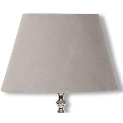 Velvet lampskärm 23 cm - Beige