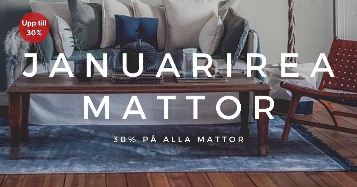Januarirea - 30% på alla mattor