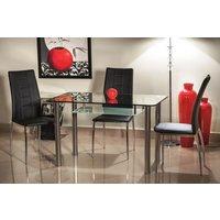 Buddy matbord 120 cm - Glas/metall