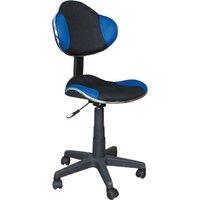 Skrivbordsstol Carla - Svart/blå