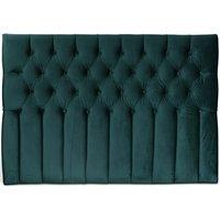 Presley sänggavel med knappar (Grön sammet) - Valfri bredd
