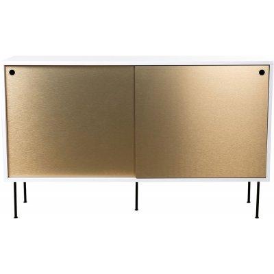 Volume sideboard 132 cm - Vit/mässing