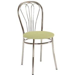 Maritza stol - Krämvit/krom