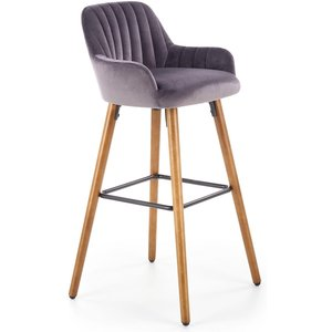 Köp Wilfrid barstol Grå (Sammet) Skånska Möbelhuset från