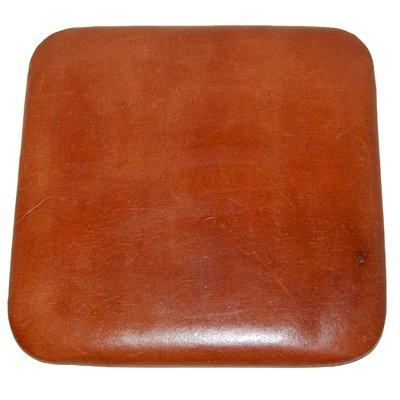 Tolixa stolsdyna kvadratisk läder - Brun