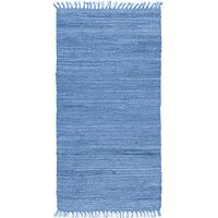 Trasmatta - Cotton - Blå - Handvävd bomull