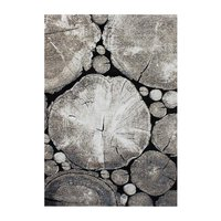 Maskinvävd matta Sholto - Grå