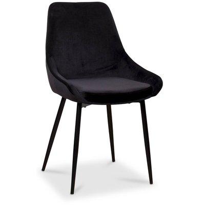 Theo stol - Svart sammet