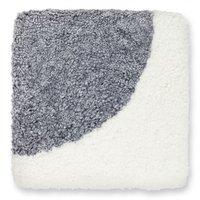 Curly stolsdyna fårskinn - Vit/silvergrå