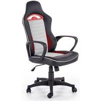 Farrell kontorsstol - Svart/grå/röd