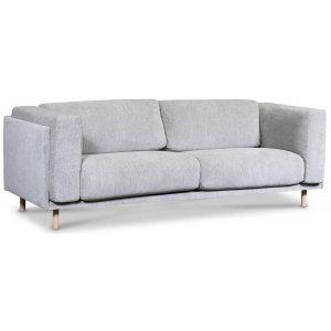 Härnösand 3-sits soffa - Ljusgrå chenille