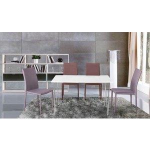 Audriana matbord 120 cm - Vit/metall