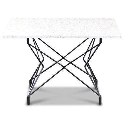 Terrazzo soffbord 75x75cm - Bianco Terrazzo & underrede Star svart