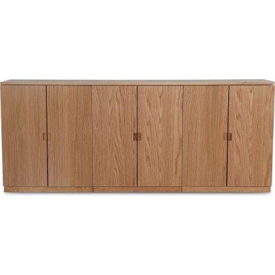 Level sideboard med släta dörrar B210 cm - Ek