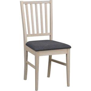 Scarlett stol - Whitewash ek/grå