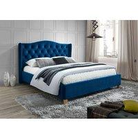 Duncan säng 160x200 cm - Blå (Sammet)